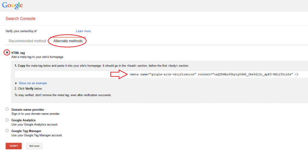 Google Search Console Verification Part1.2.