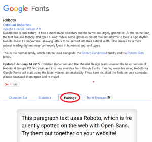 Google Fonts4 - Choosing Fonts