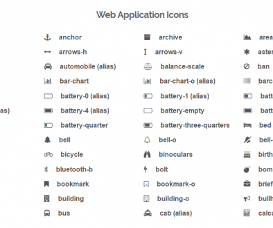 Sheet 1 for Selecting Your Icons
