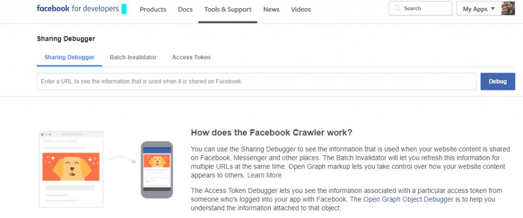 Facebook's Debug Tool 001
