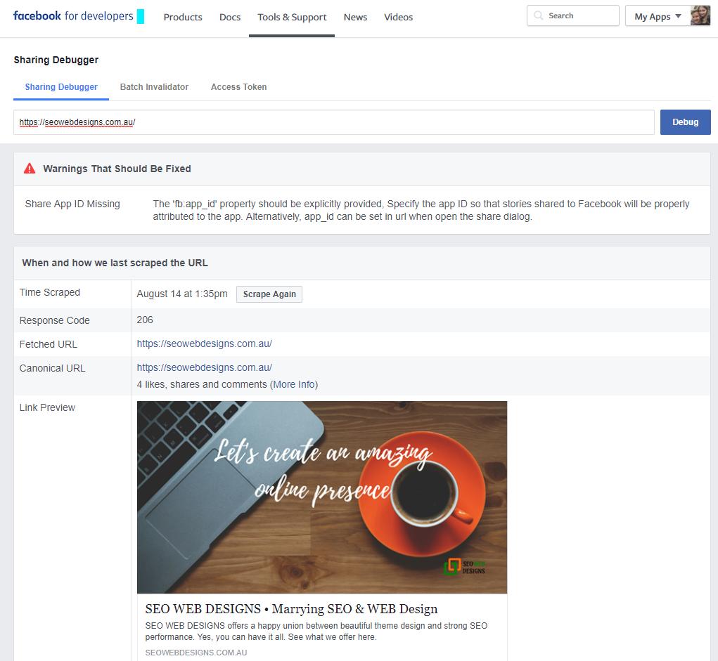 Facebook's Debug Tool 002