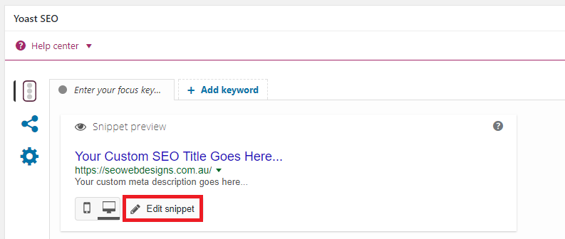 Yoast SEO Plugin - Custom SEO Meta Title and Meta Description